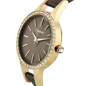 Chaumount Classic Swarovski Bezel Ladies Watch.